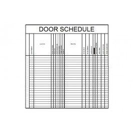 Door Schedule CAD Template