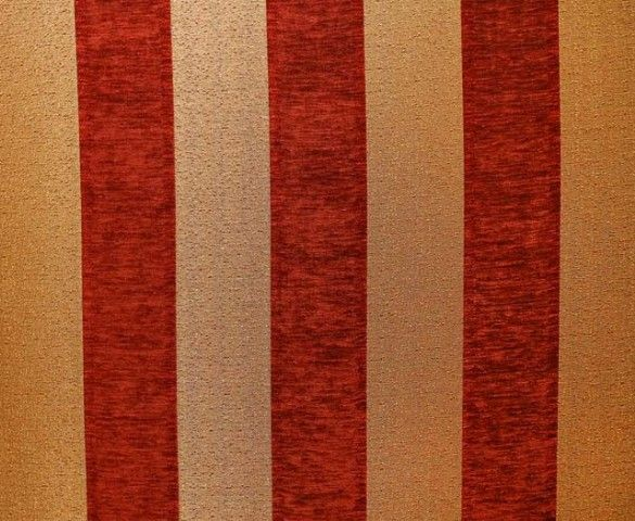 Red And Gold Striped Fabric Upholstery Majestic