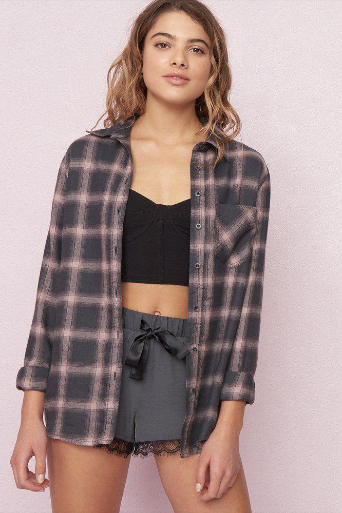 Soft Flannel Boyfriend Shirt | Boyfriend shirt outfits ...