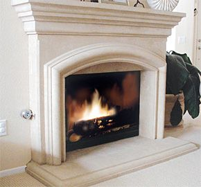 Chateau fireplaces your source for cast stone fireplaces for Concrete mantels and hearths