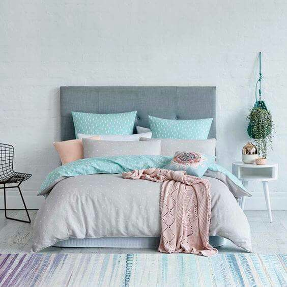 Blue pink grey