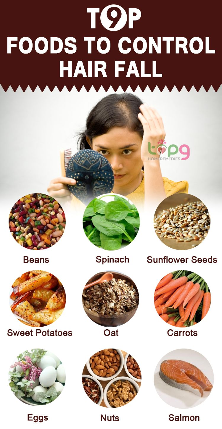 Top 9 foods to control hair fall natural remedies top 9 foods to control hair fall fandeluxe Gallery