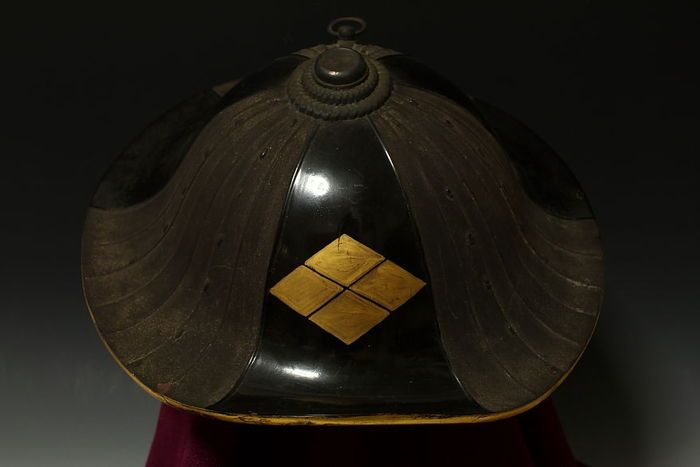 Catawiki Online-Auktionshaus: Antique Jingasa ( warrior's hat ) Yoroi - Japan - 17th / 18th century ( Edo period )