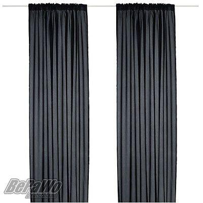 Ikea vivan gardinen vorh nge 2 schals gardinenschals - Schwarze gardinen ...