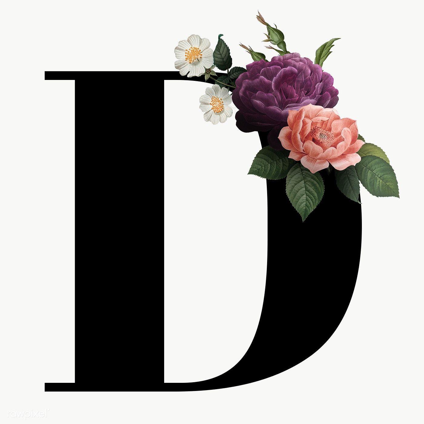 Classic And Elegant Floral Alphabet Font Letter D Transparent Png Free Image By Rawpixel Com Lettering Alphabet Fonts Fonts Alphabet Lettering Fonts