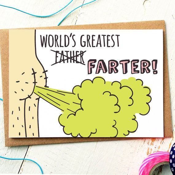 298cc817c Worlds Greatest Farter - Fathers Day Card - Dad Card - Funny Fathers ...