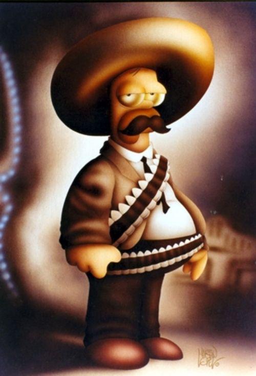 Homero Revolucion Pancho Villa Dibujos De Los Simpson Fondos De Los Simpsons Personajes De Los Simpsons