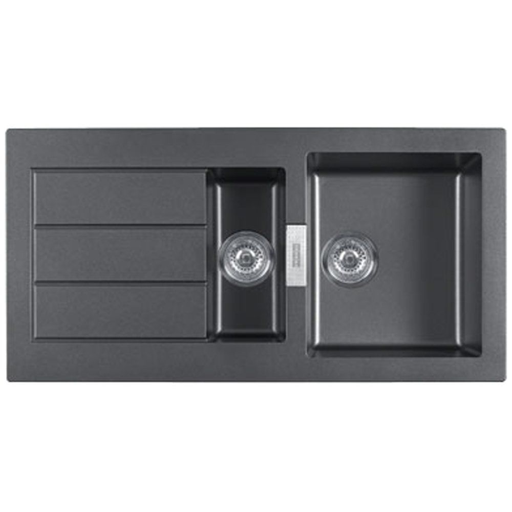 Franke Black Kitchen Sink: Franke Sirius 1.5 Bowl Black Tectonite Kitchen Sink