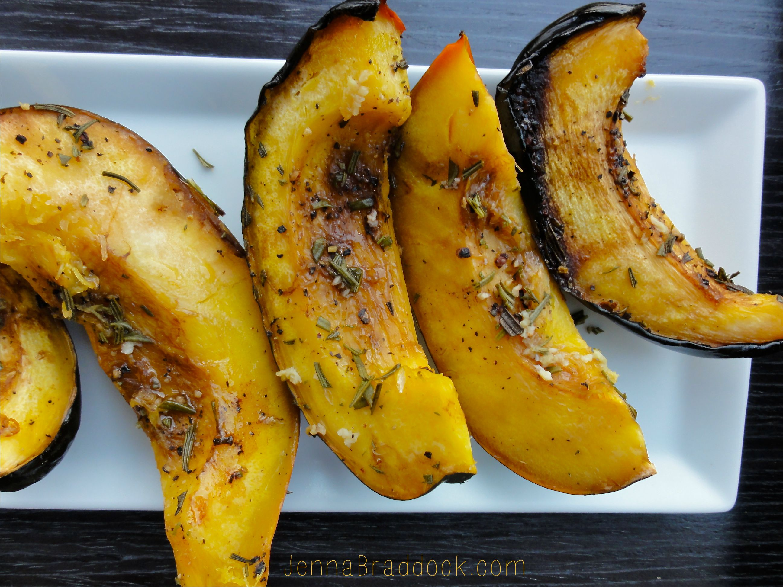 Slow Cooker Rosemary Acorn Squash Recipe With Images Squash