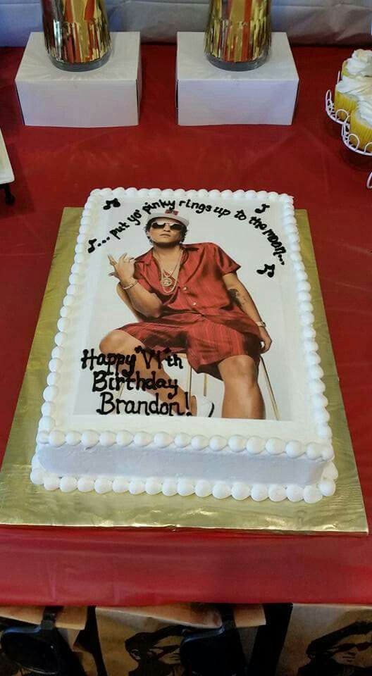 Bruno mars cake | Bruno Mars Party | Bruno mars birthday, Music ...