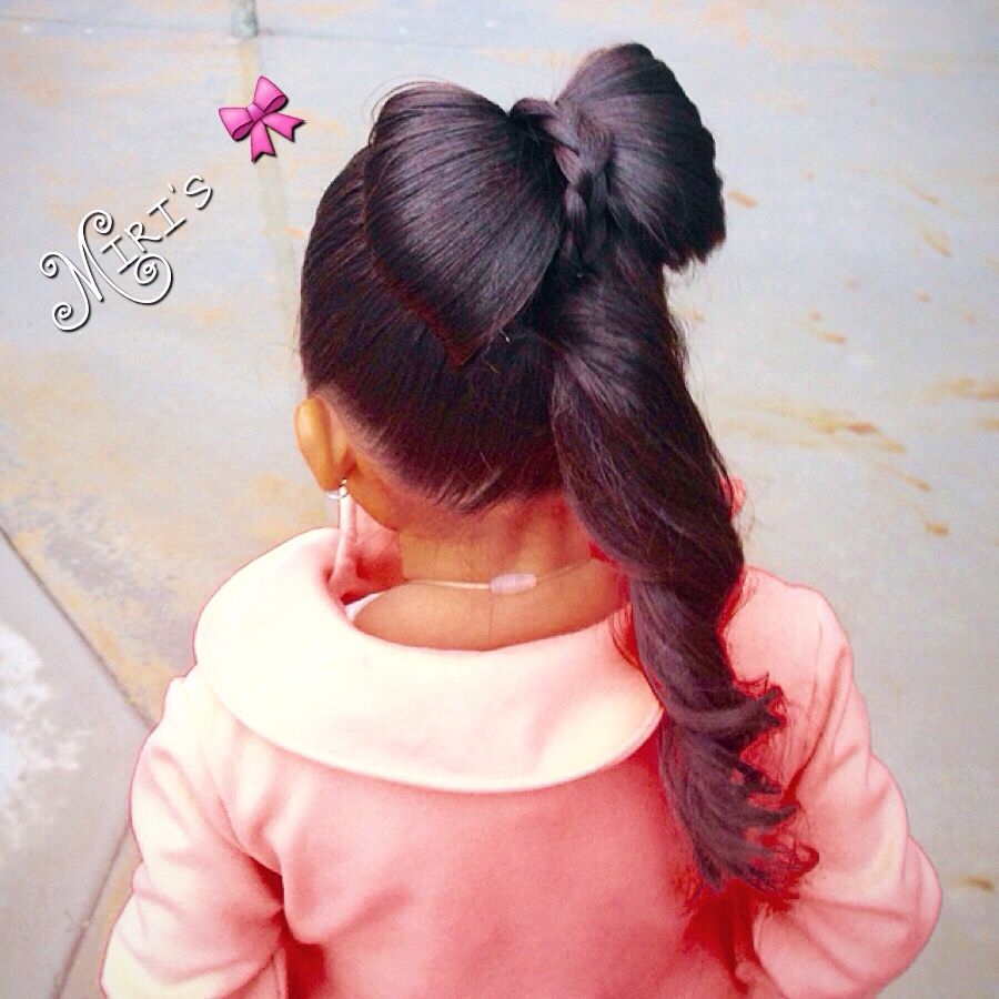 Bow hair style for little girls baby girl hairstyles