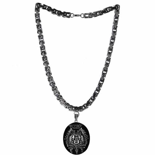 Personalized Black Skull Steampunk Punk Emo Goth Chain Necklaces Jewelry  SKU-71103109
