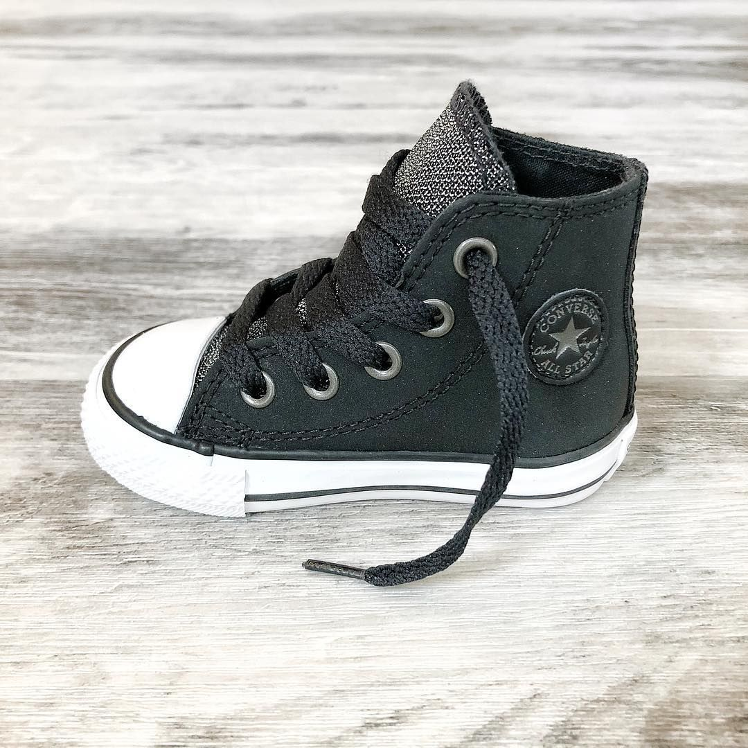 Kids Converse ~ Black glitter high top Chucks ~ toddler   junior sizes  online now! 👟 www.tinystyle.com.au  hightops  sneakers  kidsshoes   kidshightops ... 8e60a25c6ea3