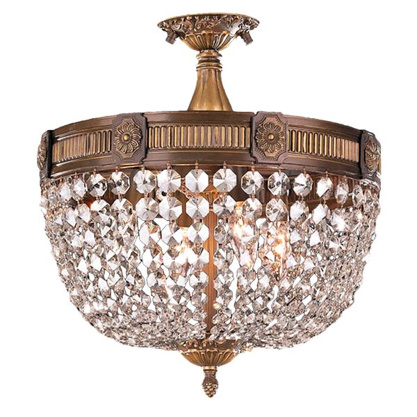 Semi Flush Ceiling Lights, French Empire Crystal Semi Flush Chandelier