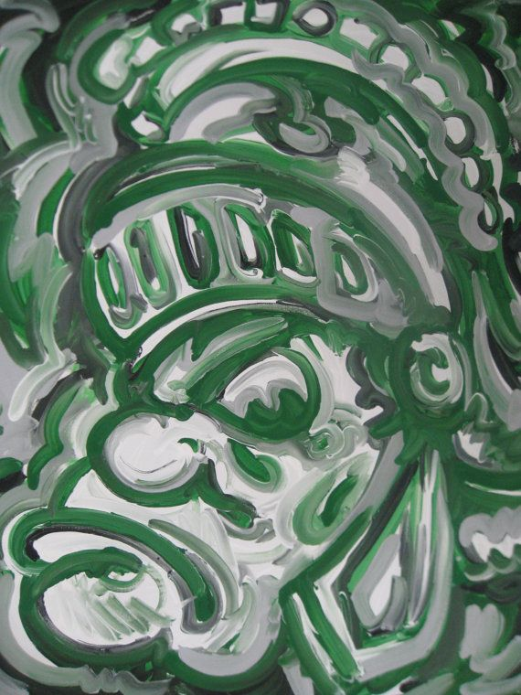 Michigan State Painting By Justin Patten Spartans