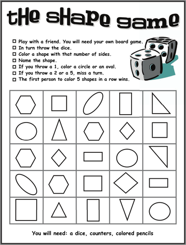 2d Shape Resources Shape Worksheets And Games For K 1st Free