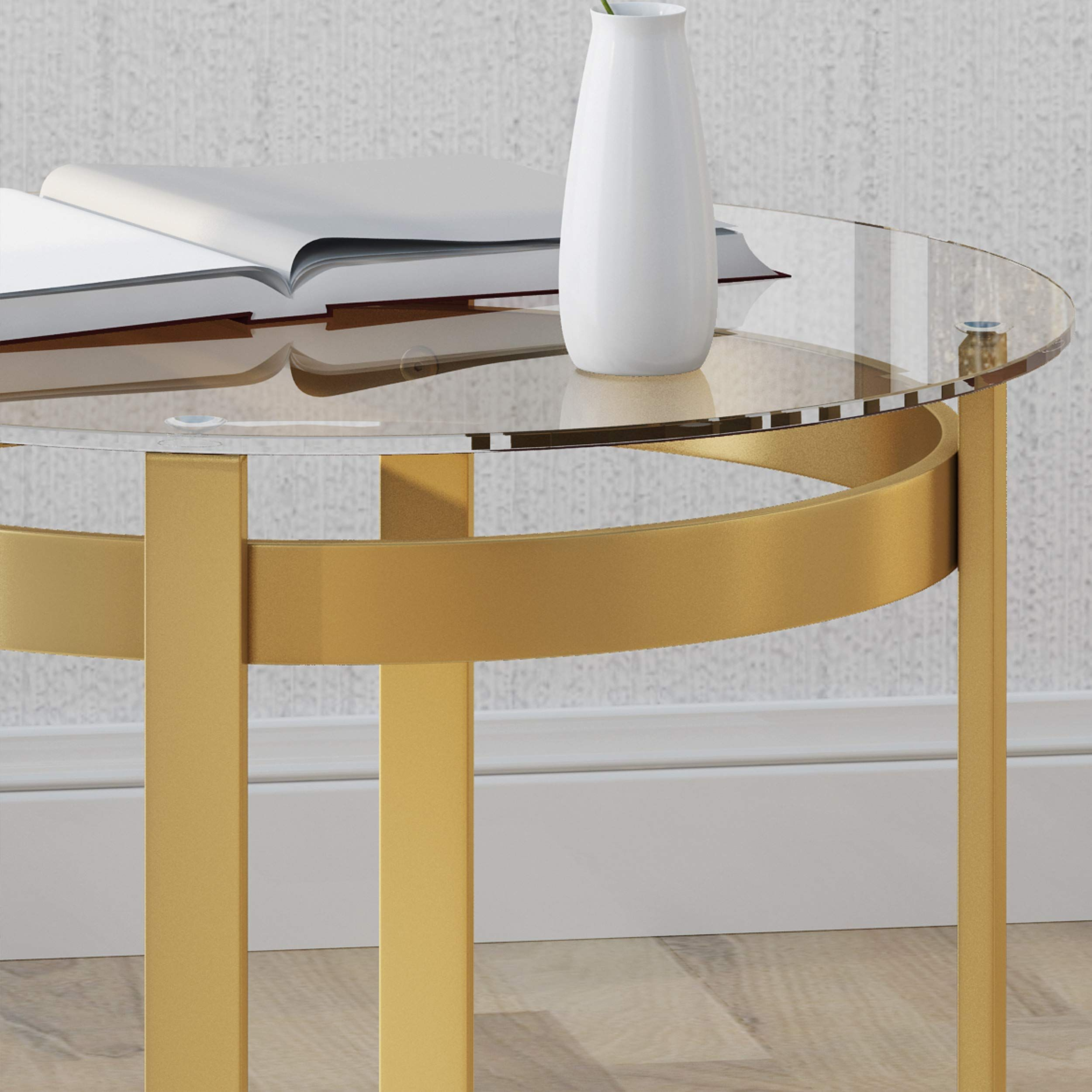 Tate Tempered Glass Coffee Table Round Modern Brass Finish Find Out More Evaluations Of Th Round Glass Coffee Table Round Coffee Table Glass Coffee Table [ 2500 x 2500 Pixel ]