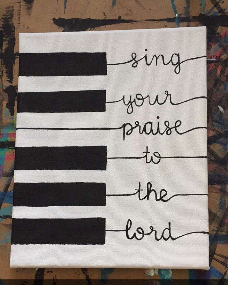 Religious sign, music decor, scripture sign, sing your praise to the lord, inspirational sign, piano sign, musical sign #musicdecor