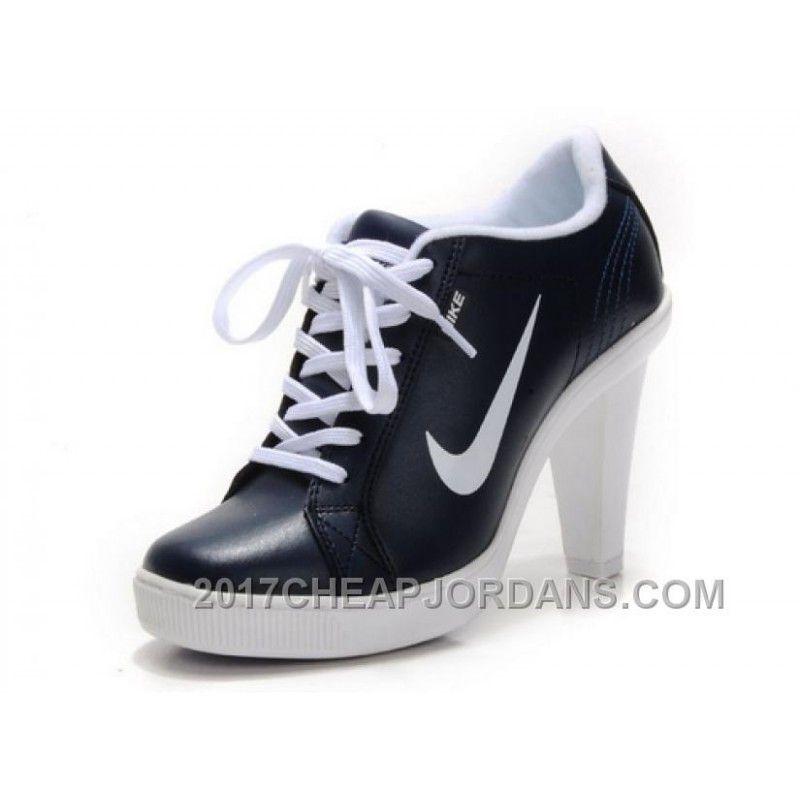 e903cd12d181 Women s Nike Dunk High Heels Low Shoes Dark Navy White Top Deals ...