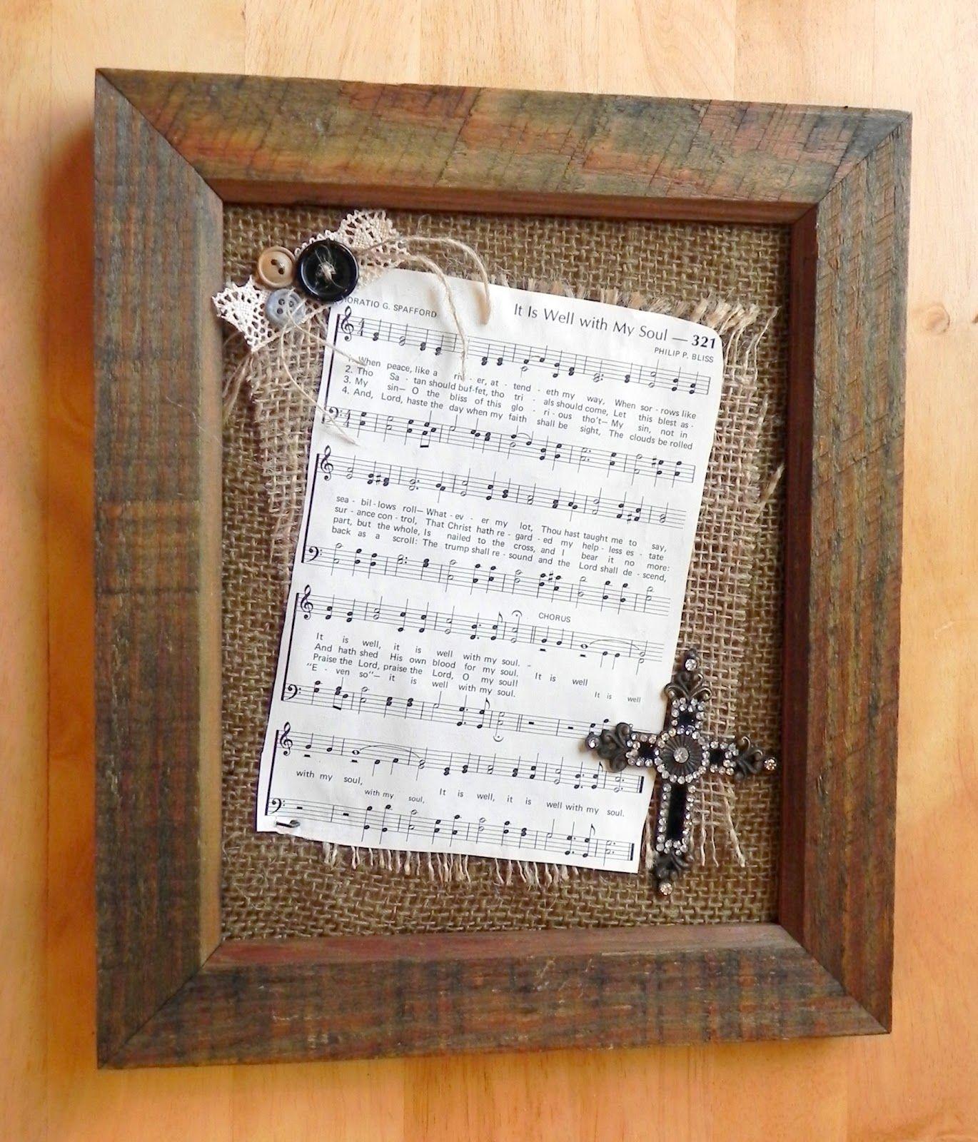 Old Rugged Cross Saxophone: Hymnal, Burlap, & Tin Can