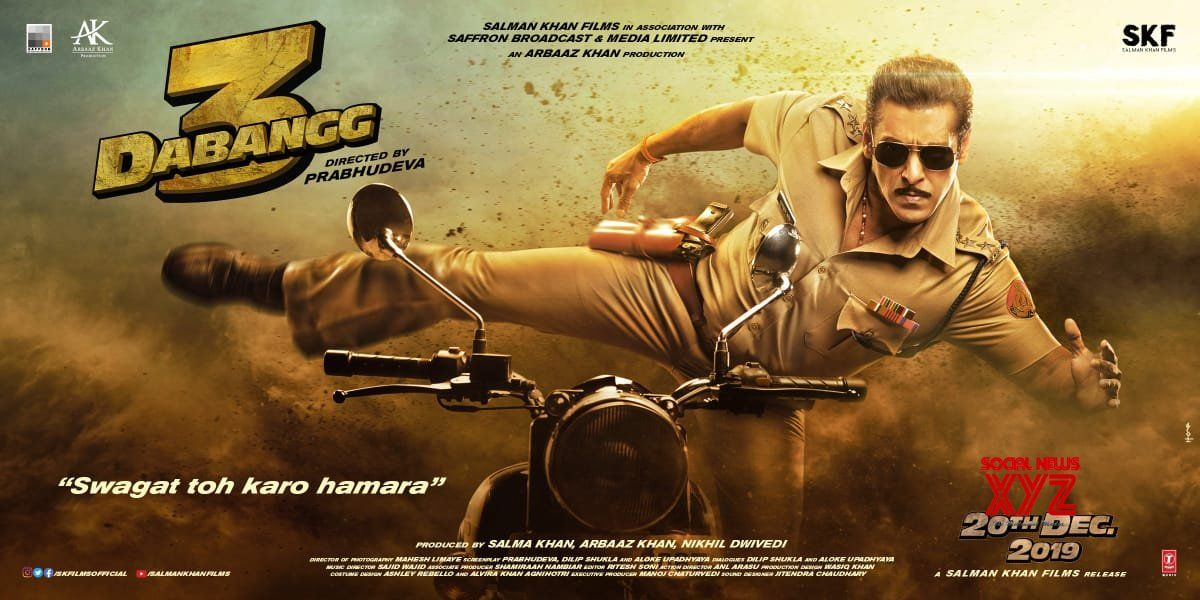 Salman Khan S Dabangg 3 New Poster And First Look Poster Of Radhe Social News Xyz Motion Poster Salman Khan Latest Movies