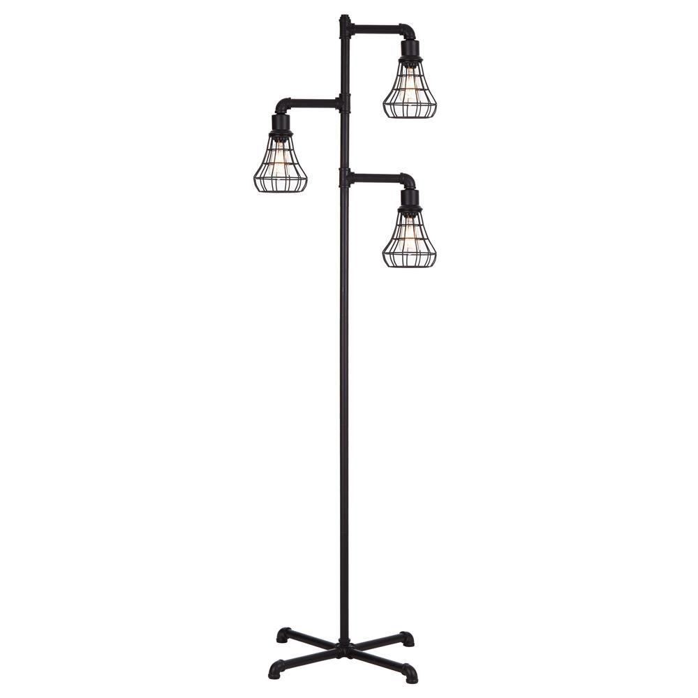 Industrial Three Head Metal Floor Lamp Floor Lamps