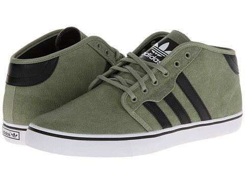 adidas skateboard seeley metà st tenda verde / nero / bianco zappos