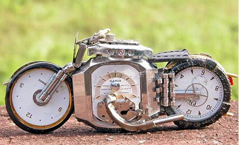 Motorcycle Art From Watch Parts Motorcycle Art Steampunk