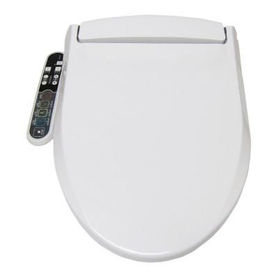 Smartbidet Electric Bidet Seat For Elongated Toilets In White Sb