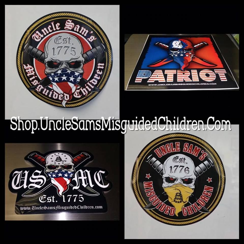 Get your DECALS! we have 2.5x2.5 or a 5x to choose from. 👉 http://shop.unclesamsmisguidedchildren.com/coll …/accessories Use USMCnation10 for 10% off