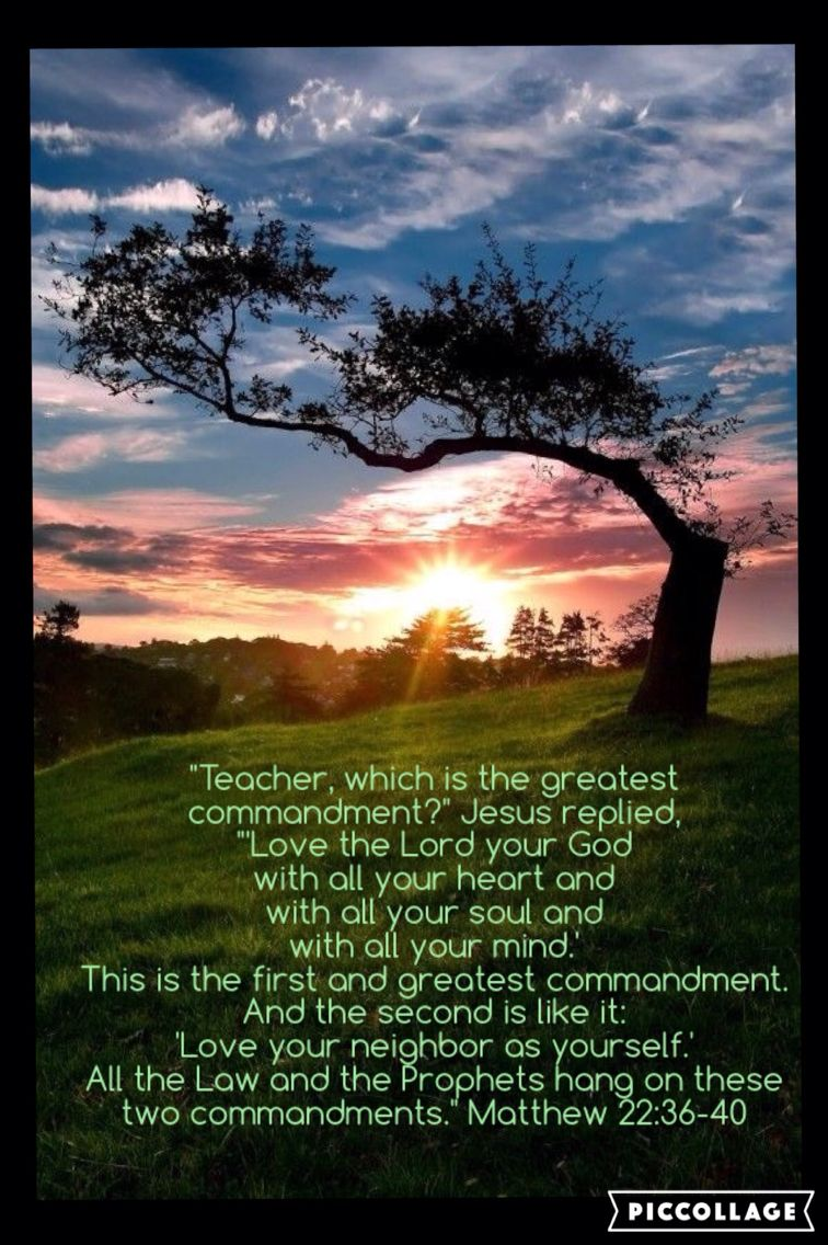 greatest commandment Someone once asked jesus which command was the most important he answered, love the lord your god with all your heart and with all your soul and with all your mind (matthew 22:36-38.