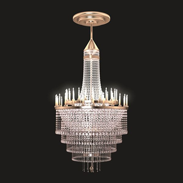 3d elegant chandelier model 3d model 3d modeling pinterest 3d elegant chandelier model 3d model aloadofball Image collections