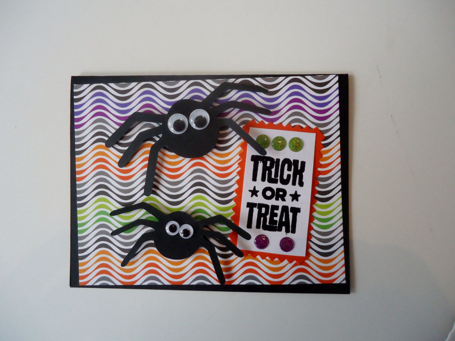 Trick or treat spooky spider halloween card handmade greeting trick or treat spooky spider halloween card handmade greeting card funny m4hsunfo Choice Image