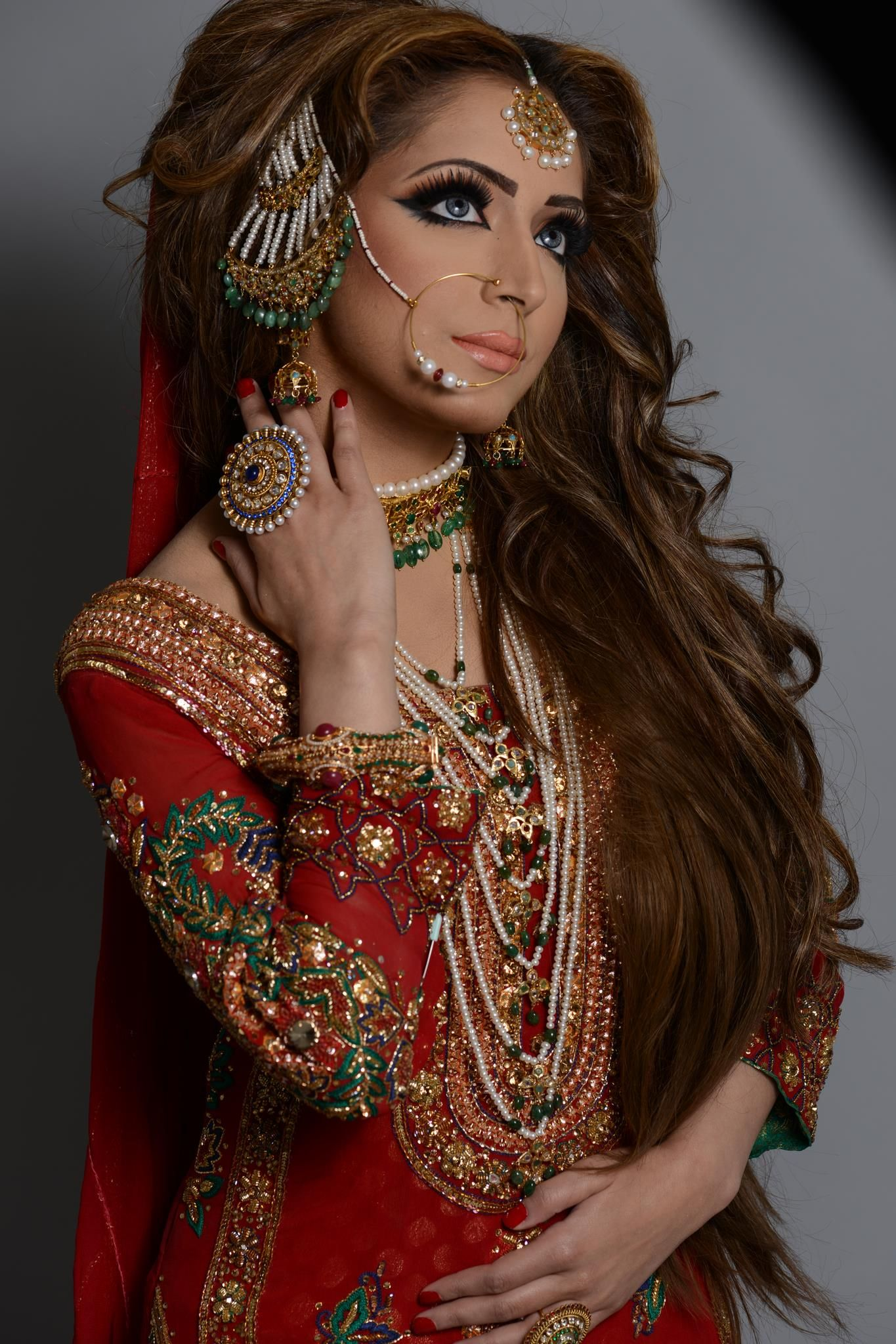naeem khan | pakistani bridal, pakistani bridal hairstyles