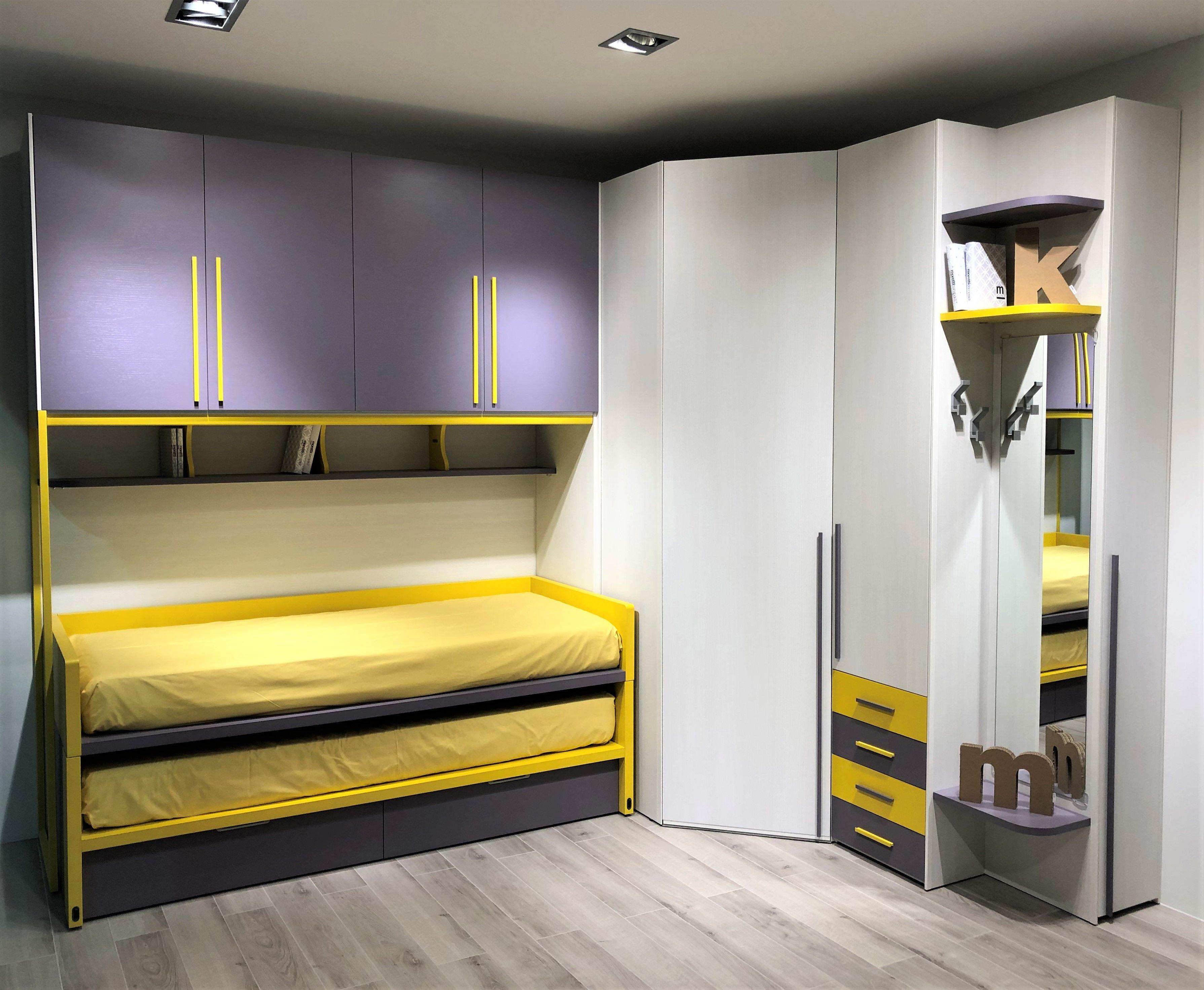 Camerette Ragazzi Moretti Prezzi mora e giallo sono 2 colori apprezzati sia dai maschietti