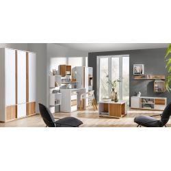 furniture poster #furniture Wohnzimmer Komplett - Set F Lefua, 14-teilig, Farbe: Wei / Nussfarben Steinersteiner