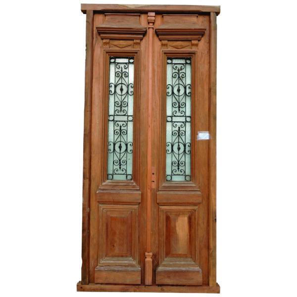 Puerta de entrada cod 2933 puerta para frente de madera for Puertas de entrada de madera antiguas
