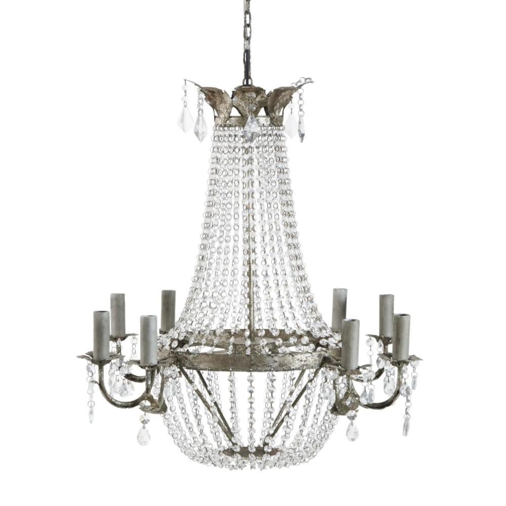 Kronleuchter Mit Behang Aus Metall Kronleuchter Lampen Und Zuhause