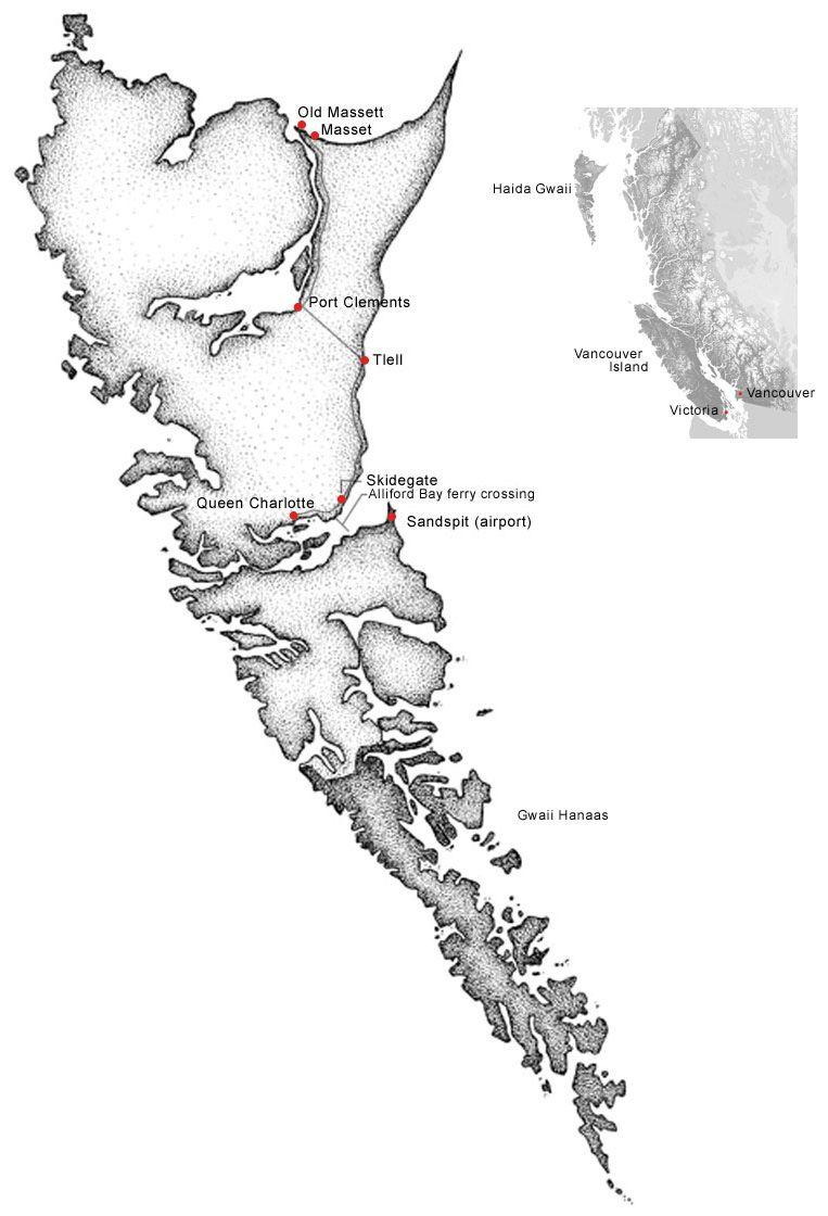 F Dac Dc E Eb F on Haida Indian Villages In Alaska