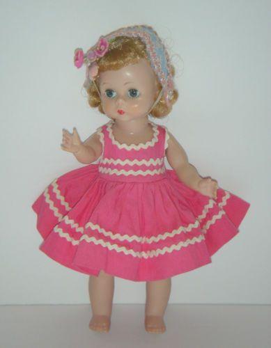 Vintage-1950-039-s-Alexander-Kins-Bent-Leg-Walker-Blonde-Hair-Blue-Eyes