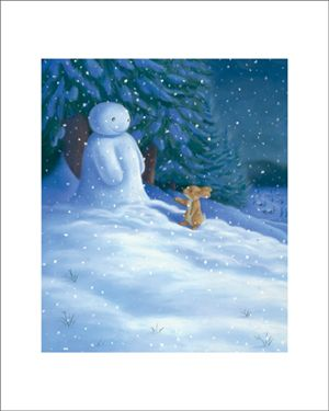 The Bunny and the Snowman I know a little snowman Who had a carrot nose. Along came a bunny,  And what do you suppose. That hungry little bunny Was looking for his lunch. He ate that snowman's carrot nose, Nibble, nibble, crunch. --Traditional