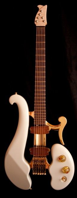 The utterly gorgeous Di Donato guitar - the result of skills in crafting violins, violas a...