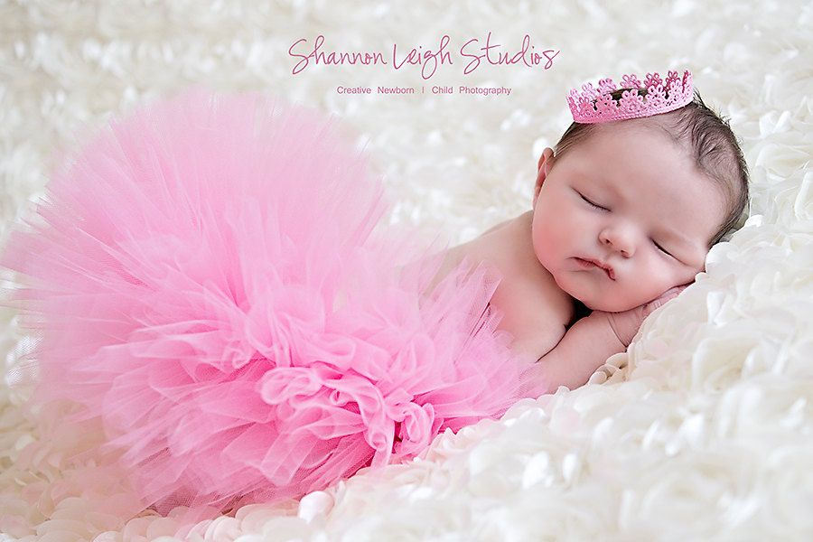 Pretty pink princess tutu set from the sweet baby royalty newborn tutu and tiara collection stunning unique newborn photo prop 50 00 via etsy