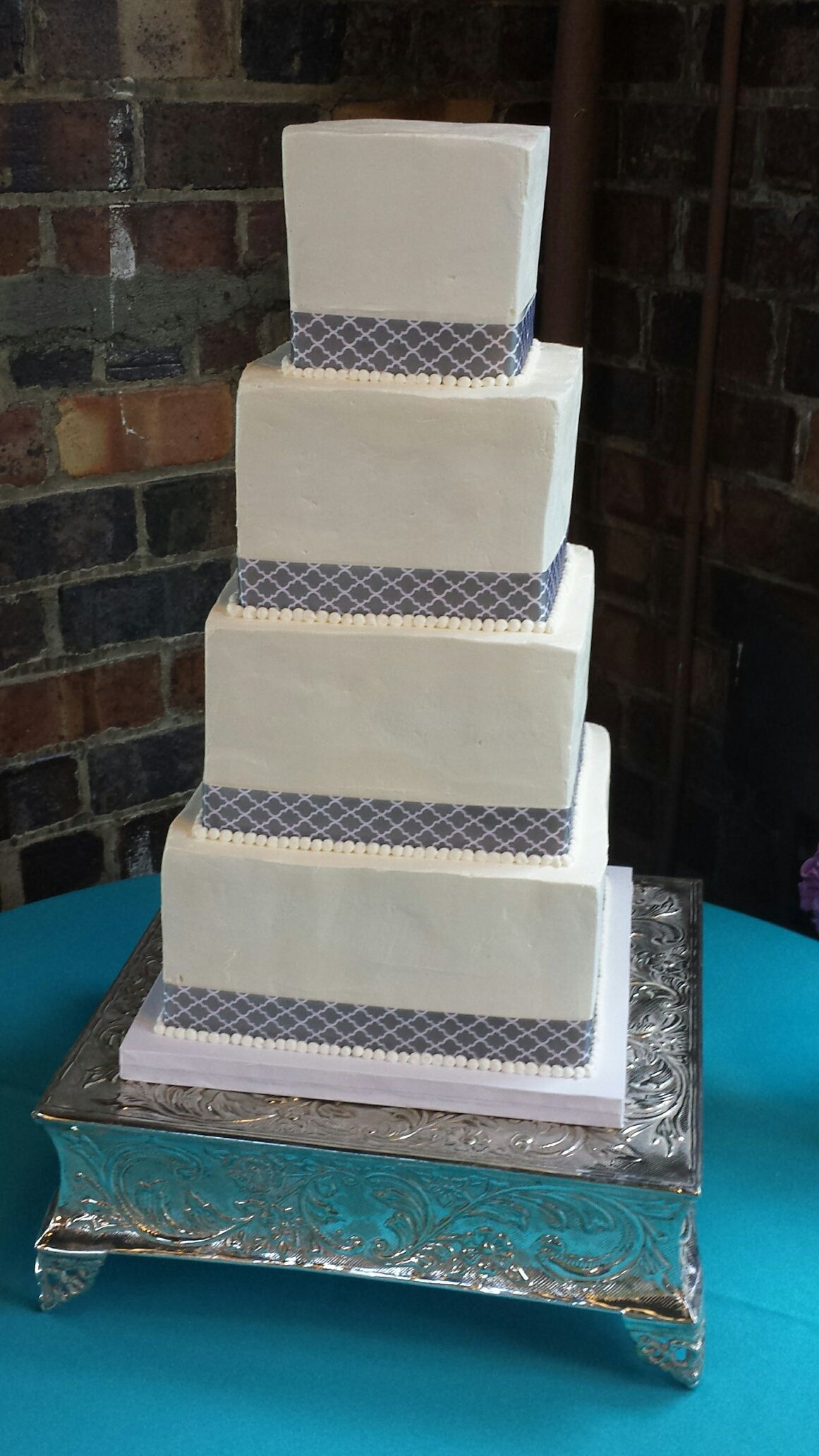 Charmant Modern Square Wedding Cake By Short North Piece Of Cake In Columbus Ohio.