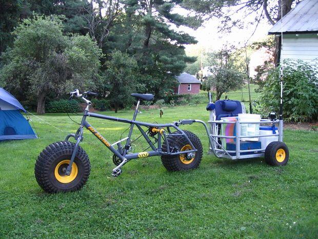 Surf Fishing Cart Bike Trailer Cart Plans Garden