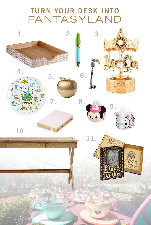 Turn Your Desk Into Fantasyland   Disney rooms, Disney home decor, Disney bedrooms