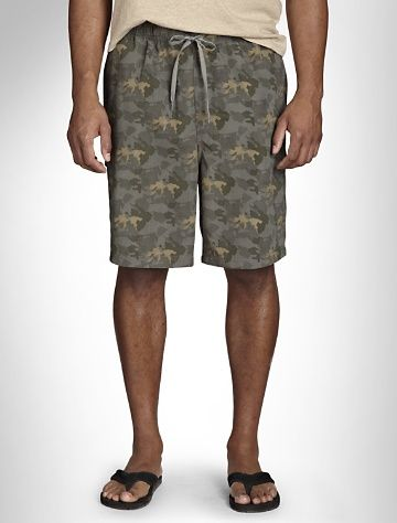 4f12e2805df91 555 Turnpike™ Camo Swim Trunks Summer essential in a cool camouflage print.  Elasticized drawstring waist, side-seam pockets, hook 'n loop–close flap  pocket ...