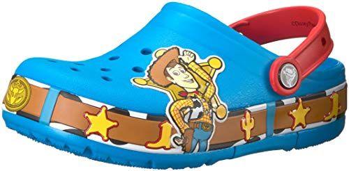 Crocs Kids Boys /& Girls Toy Story Woody Light-Up Clog