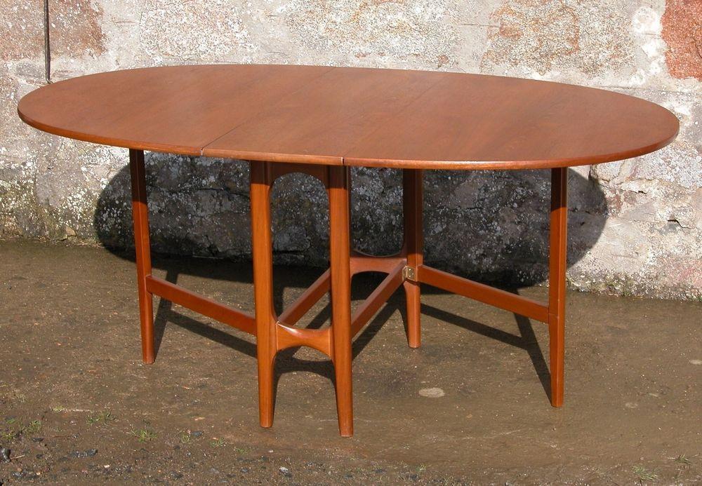 Vintage Danish Design 1970 S Nathan Retro Drop Leaf Table In Teak