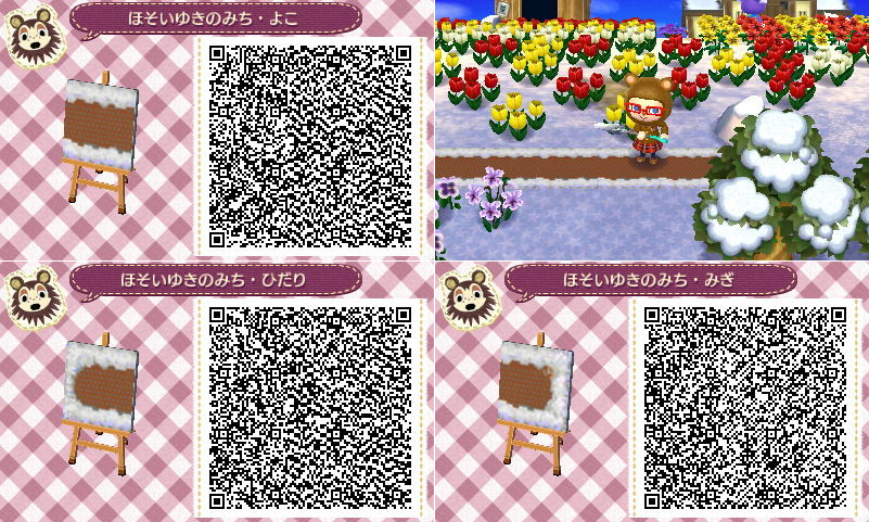Snow dirt pathway. Click link for full QR code! Animal